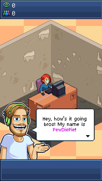Screenshots of PewDiePie's Tuber Simulator for iPhone
