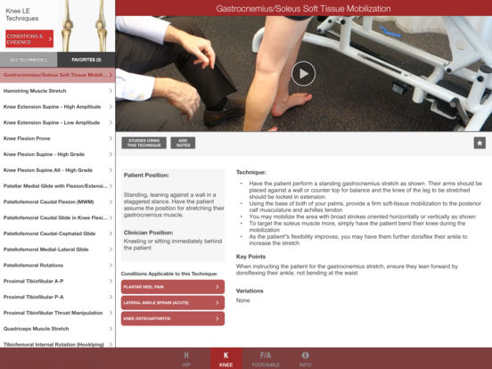 Mobile OMT Lower Extremity iPad Screenshot 5