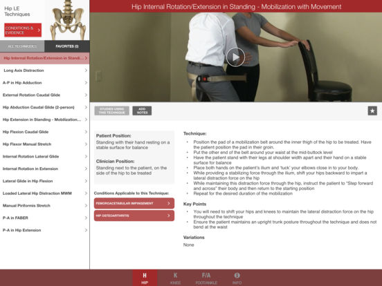 Mobile OMT Lower Extremity iPad Screenshot 1