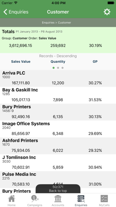 sales-i Mobile iPhone Screenshot 4