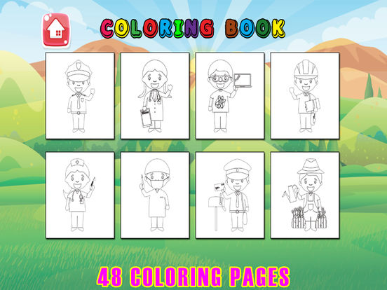 Occupation coloring book page kids learning game review for The paint brush kid comprehension questions