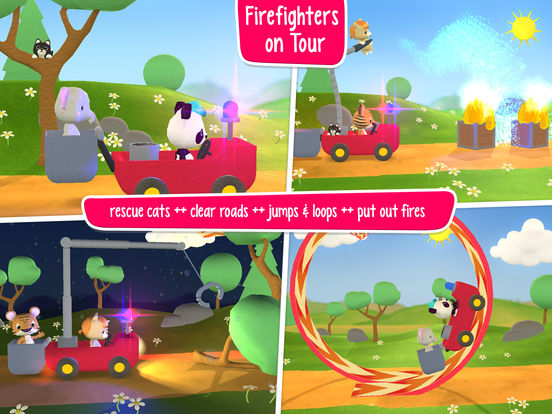 Little Tiger: Fire Truck, Submarine, Spaceship Screenshots