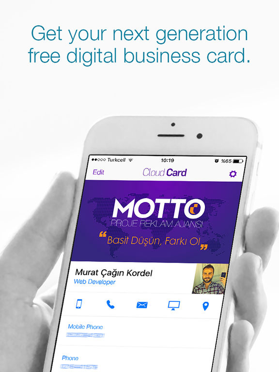 Cloud Card Digital Business Card on the App Store
