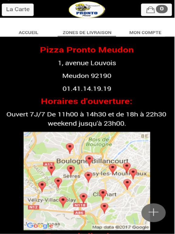 App shopper pizza pronto meudon food drink for Piscine meudon horaires