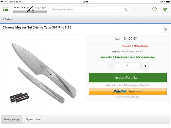 tradeparadise.de - Ihr Shop rund ums Kochen, Lifestyle, Design und Beauty iPad Screenshot 4