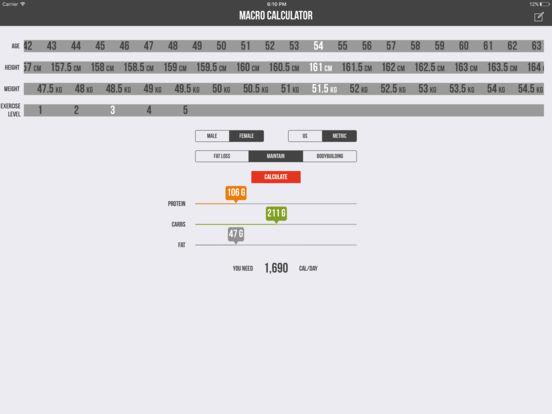 Macro Calculator - Mifflin-St Jeor Formula Скриншоты7