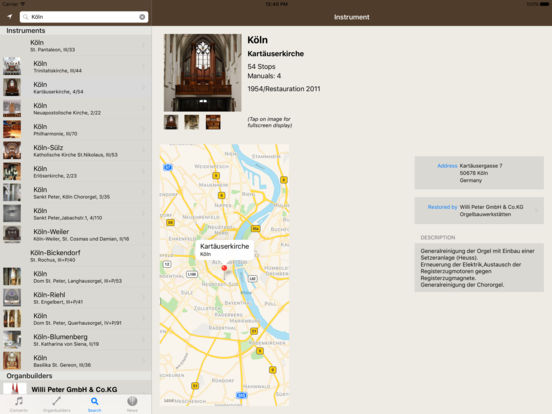 Orgel iPad Screenshot 2