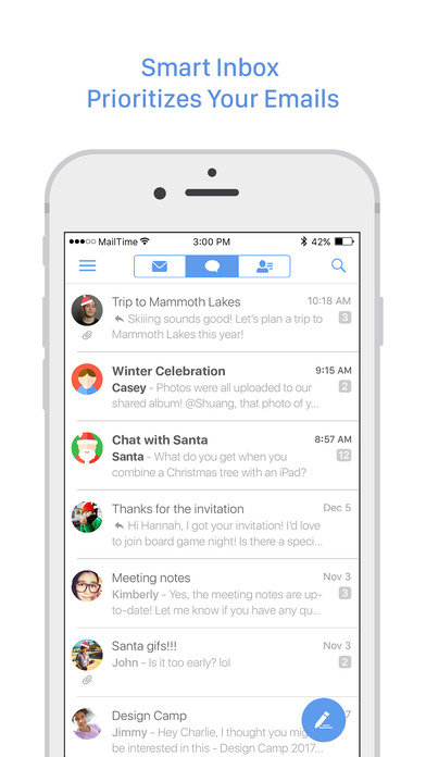 MailTime-Gmail,Yahoo Mail,Outlook Email Messenger Screenshot