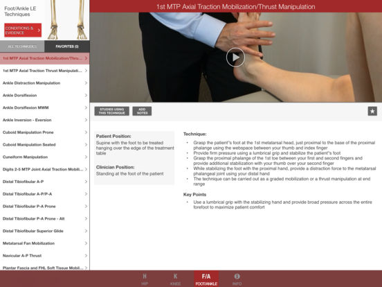 Mobile OMT Lower Extremity iPad Screenshot 3