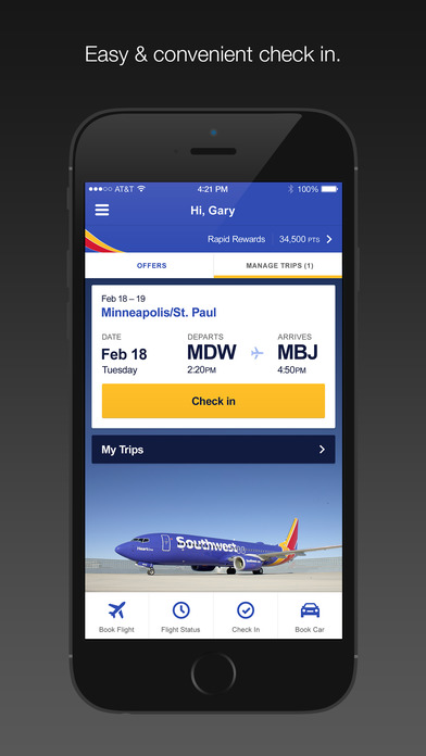 Southwest Airlines iPhone Screenshot 1