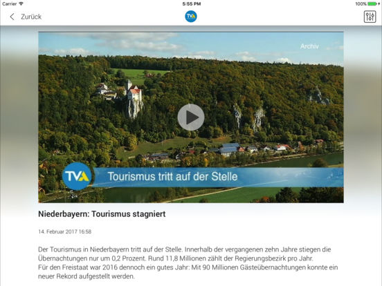 TVA Ostbayern iPad Screenshot 5