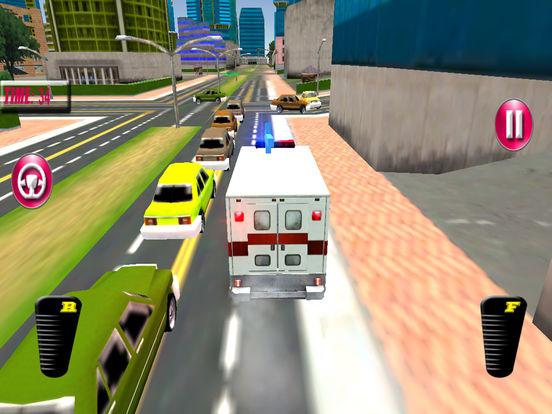 Fast Ambulance Rescue Duty 3D Pro screenshot 8