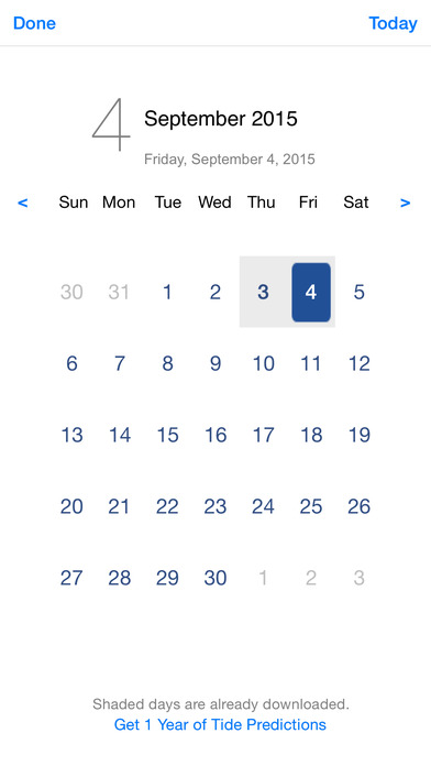Tide Graph iPhone Screenshot 3