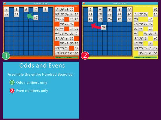 A Montessori Approach to Math - Hundred Board iPad Screenshot 4