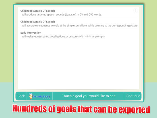 SLP Goal Bank iPad Screenshot 4