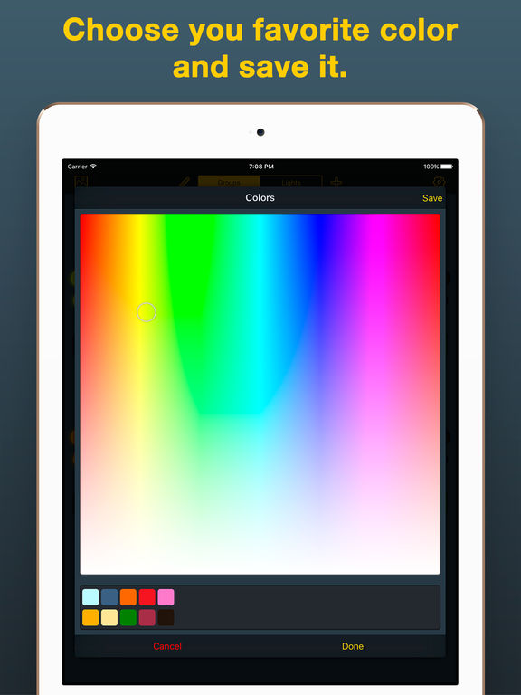 iHue for Philips Hue - easy control of light. Screenshots