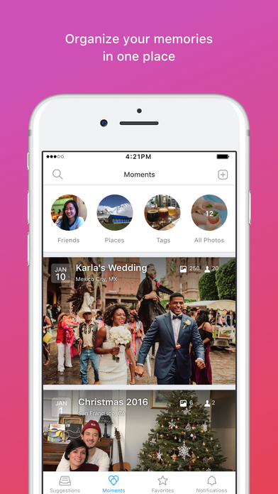 download Moments - private albums with friends and family apps 4