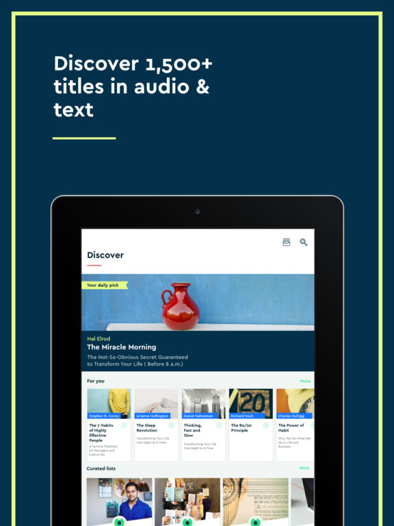 Blinkist - Nonfiction Book Notes in Audio & Text Screenshot