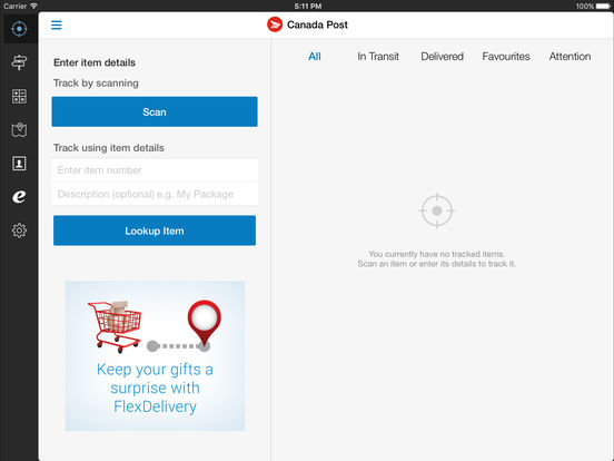 How do you track items sent via Canada Post?