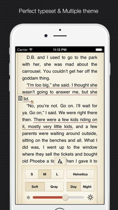 YiBook - elegant ebook reader for epub & txt Screenshots