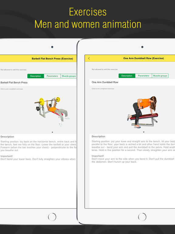 Fitness - Gym and Home Workout,my Exercise Journal Screenshots