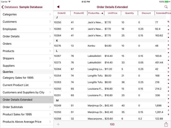Sybase Mobile Database Client Screenshots