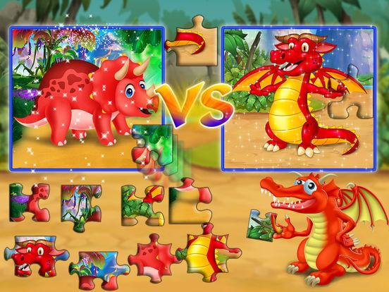 Dinosaur vs dragon: Puzzle screenshot 7