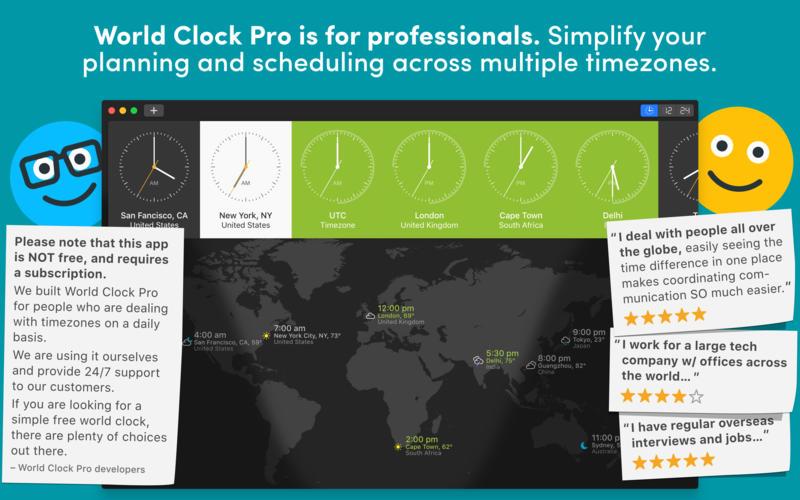 世界时钟 World Clock for Mac