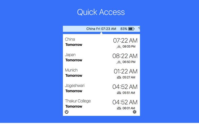 Clocker - Menubar World Clock for Mac