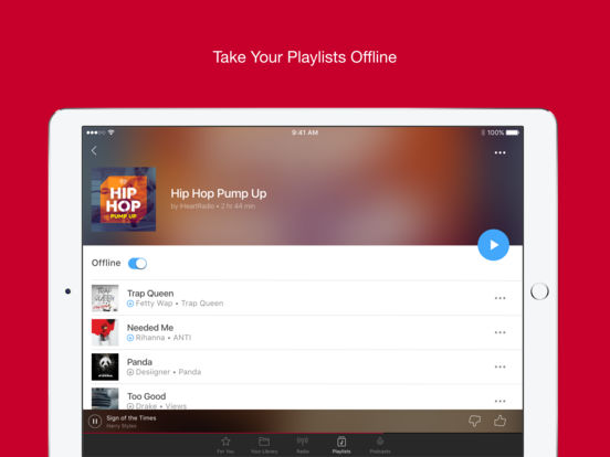 Screenshots of iHeartRadio – Free Music & Radio Stations for iPad