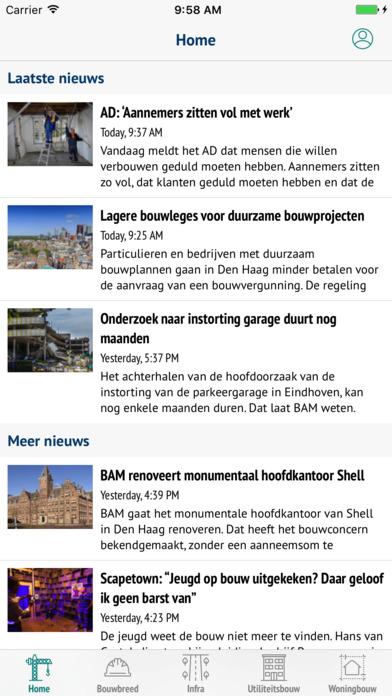 Cobouw nieuws en Bouwberichten screenshot