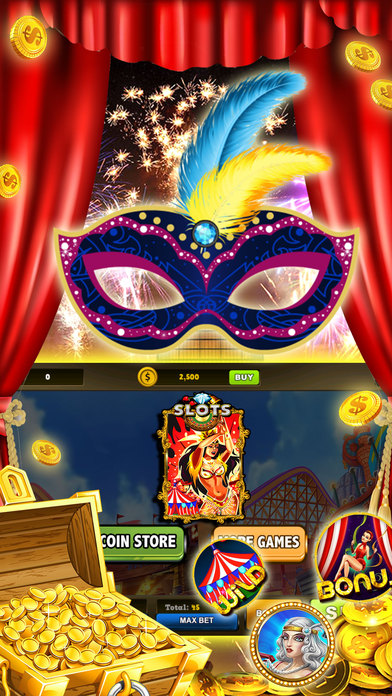 Screenshot 1 Carnival Secret Coin Chest – Pusher Slots & Party