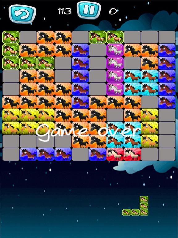 Pony Unicorn New Tetri Puzzle Flow screenshot 6