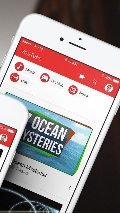 Screenshot of YouTube - Watch Videos, Music, and Live Streams App