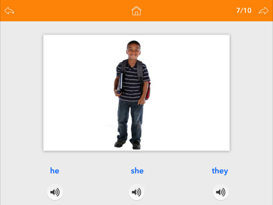 Screenshot #2 for Pronouns by Teach Speech Apps