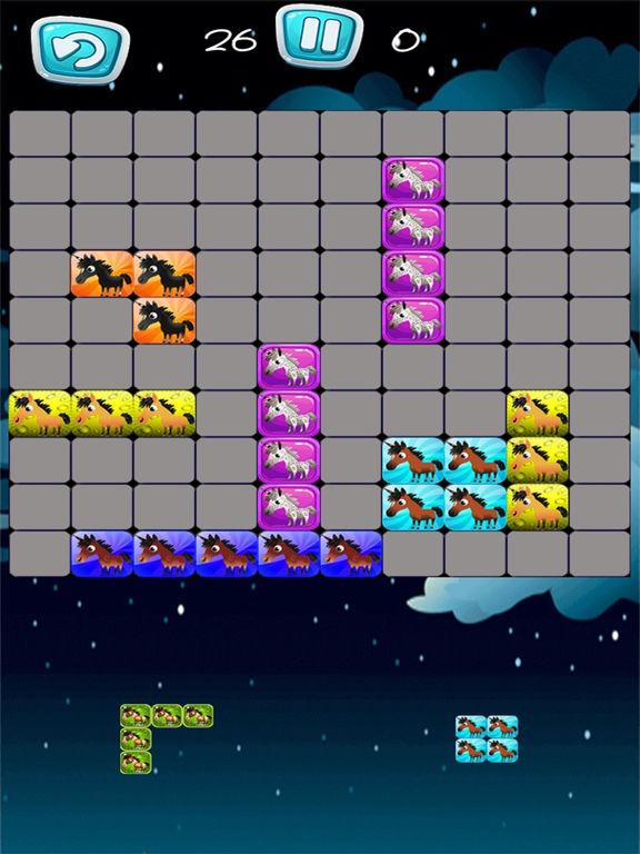 Pony Unicorn New Tetri Puzzle Flow screenshot 5