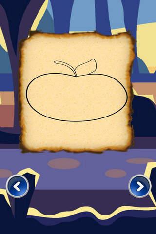 Color Book Fruits - Apple For Kids screenshot 2