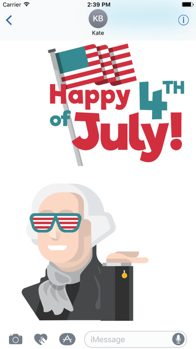 4th of July Sticker and Emoji Pack App Download - Android APK