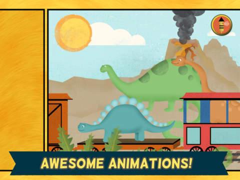 Игра Игры про динозавров для детей: пазл