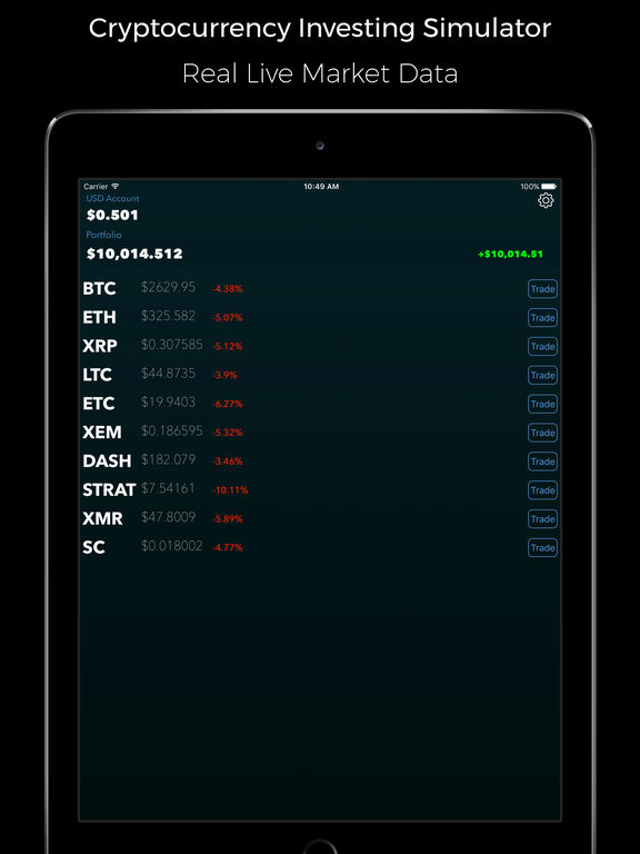 Option trading simulator app