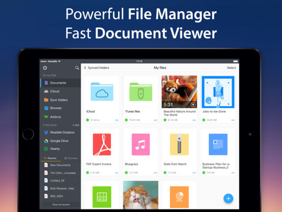 Documents 6 - File manager, PDF reader and browser Screenshot