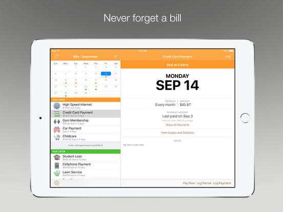 Chronicle - Bill Management & Reminders Screenshots