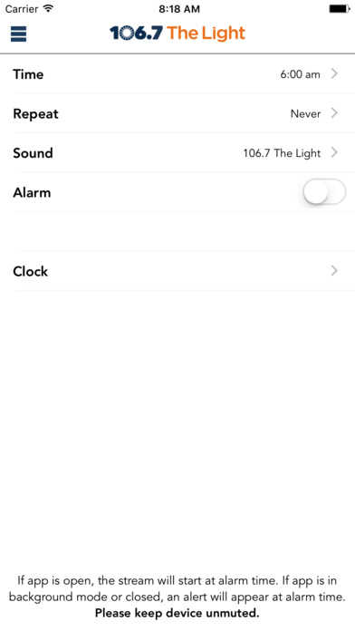 106.7 The Light iPhone Screenshot 4