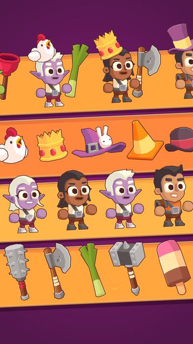 Questy Quest - Бесконечные бои нажатиями на экран Скриншоты6