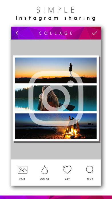 collage make selfie photo layouts for instagram app