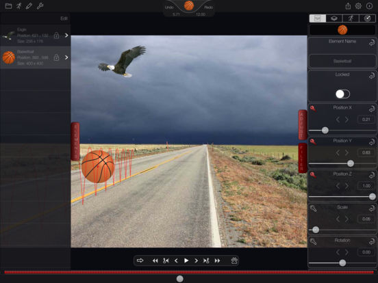 2.5D Animation System for iPad Exports Stereoscopic Movies Image