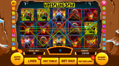Screenshot 1 Wrestling слот Машина : Выиграть виртуальный Игра