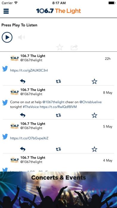 106.7 The Light iPhone Screenshot 1