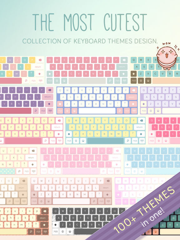 Pastel Keyboard Themes Extension - 100+ Cute Color Screenshots