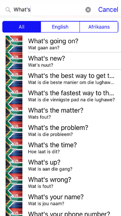 Afrikaans Phrases Diamond 4K Edition screenshot 2